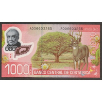 Grr-billete Costa Rica 1000 Colones 2009/2011 - Plastico!!!
