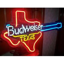 Budweiser,anuncio Gas Neon.bud Texas Guitar . Ggante