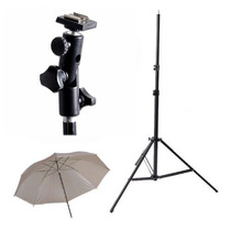 Kit Sombrilla Con Soporte Bracket Para Flash Con Tripie Hm4
