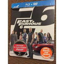 Rápidos Y Furiosos 6 Steelbook Bluray Y Dvd Vin Diesel Imp.