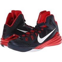 Tenis Para Caballero Nike!!hyperdunk De Bota Negro Con Rojo