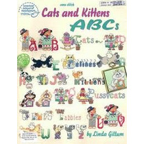 Libro Para Bordar En Punto De Cruz Abc De Gatos