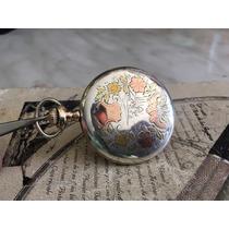 Reloj De Bolsillo Elgin Cuerda Antiguo Caja Plata Chapa Oro
