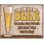 Poster Lamina Humor De Bar Beer Amigos Vintage Retro Anuncio