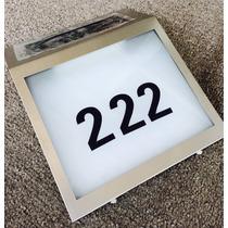 Número Solar Para Casa. Placa Nomenclatura Panel Led