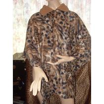 Capa Animal Print Leopardo Unitalla Abrigo Chamarra T Extra