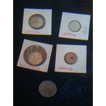 Set De 5 Monedas De Coleccion Japon Y Australia 2