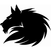 Sticker Vinil Autoadherible Lobo (wolf) Calcomanía Tribal