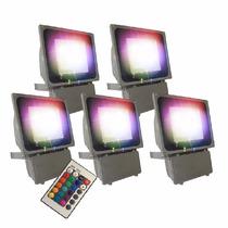 Reflector Led 100w Rgb Multicolor Con Control X5 Promoción