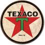 Poster Metalico  Lamina Anuncio Logo Texaco 1936 Retro Vinta