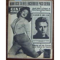 Revista Cinemundial,mary Esquivel,james Dean En Portada