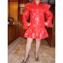 Vestido Rojo De Tela Ahulada Talla 7 Americano.