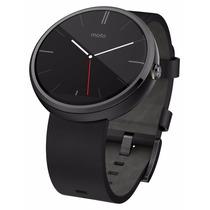 Smart Watch Motorola Moto 360 Negro Piel Reloj Android