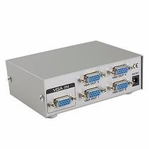 Splitter Vga 1*4 Divisor De Señal Amplificador 4 Tv 4 Puerto