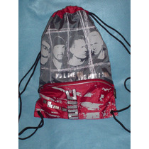 Morral De U2 No Line In The Horizont Guinda Y Gris Bbf