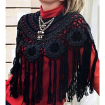 Poncho Crochet Modelo Ruso