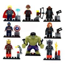 Avengers Marvel Set 8 Figuras Compatibles Lego Hulk, Iroman