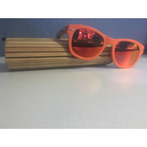 Lentes 100%. Bambú Para Sol Con Protector De Rayos Uv