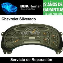 Chevrolet Silverado Tablero De Instrumentos: Reparación
