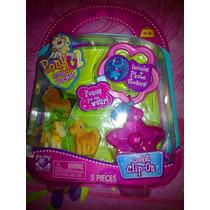 Set De Miniaturas De Caballitos Pony Con Accesorios Mod 2