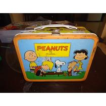 Lonchera Peanuts Snoopy Vintage 1959 De Metal Thermos +++