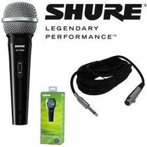 Flr Micrófono Shure Sv100 Con Cable Xlr-1/4 Línea Nueva!