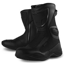 Botas Con Proteccion Icon Moto Reign Waterproof Negras 7 Mx