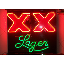Cerveza Sol No,.dos Equis Lager,anuncio De Luz Neon Vintage