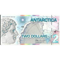Billete Antartica 2 Dolares (2007) Jmaes Clark Ross
