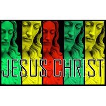 Lienzo En Tela. Rostro De Jesús. 55 X 70 Cm.