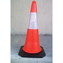 Cono Vial Naranja Seguridad Señalamiento Bloqueo 75 Cm