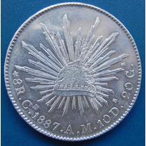 Moneda 8 Reales Culiacan 1887 Am