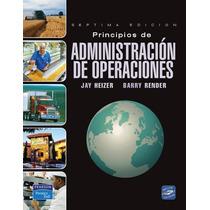 Principios De Administración De Operaciones Pdf