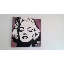 Pintura Marilyn Monroe Pop Art Óleo