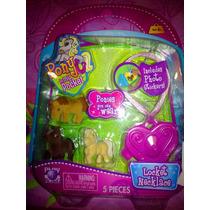 Set De Miniaturas De Caballitos Pony Con Accesorios