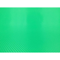 Vinil Verde Imitacion Fibra De Carbono 1.52m X 1m