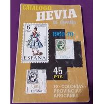 Librosdelrecuerdo Catalogo Hevia España 1969-70 Timbres Post