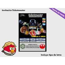 Ki-002 Kit Imprimible Y Editable Angry Birds Star Wars