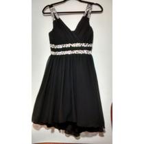 Vestido Negro Fiesta De Chifon