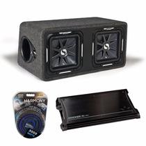 Kicker Zx1500.1 + 11ds12l72-n + Harmony Audio Ha-ak0