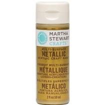 Martha Stewart 32.103 2 Onzas De Pintura De Acrílico Oro Met
