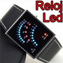 Reloj Binario 29 Leds Unisex Retro Velocimetro Light Au1