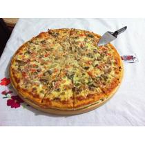 Tabla Madera Pino Circular Plato Para Pizza Redonda 36cm