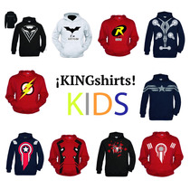 Sudadera Superheroes Niño Kids Capitan America Y Mas