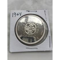 1864-1964 Centenario De Quebec Canada De Plata