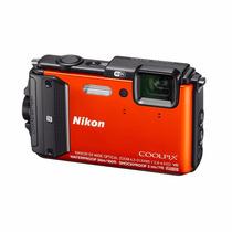 Cámara Digital Sumergible Coolpix Aw130 Nikon Naranja 16 Mpx