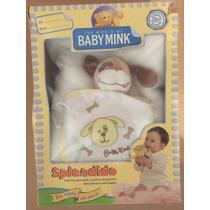 Cobertor Para Bebe Baby Mink Con Muñeco De Peluche