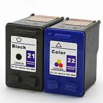 Combo Cartuchos De Tinta Para Hp 21 Compatible $324