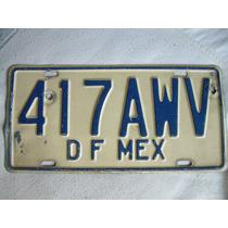 Placa Mexicana Del D.f. 1996 Hm4