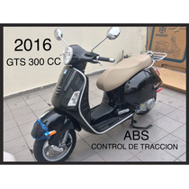Moto Vespa Gts 300 Nueva, 2016